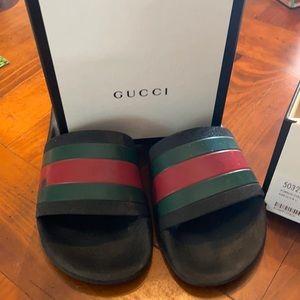 Authentic Gucci slides size 32